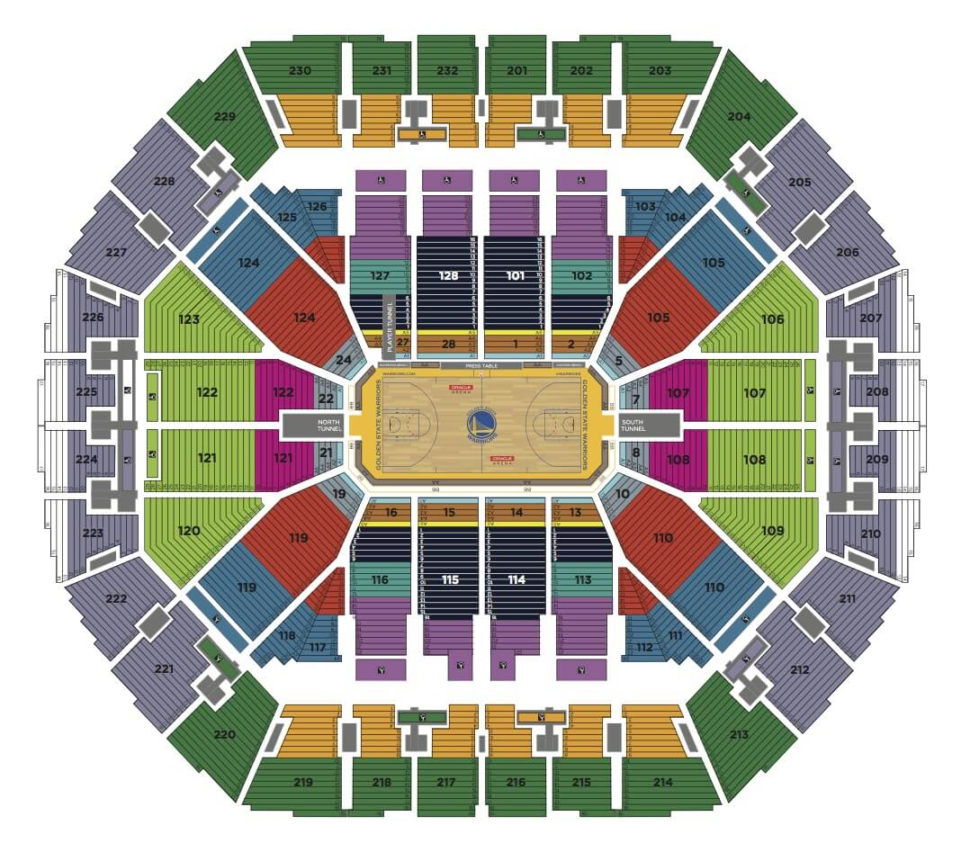 Basketball Arena Floor Plan Seating Charts Oracle Arena And Oakland Alameda County